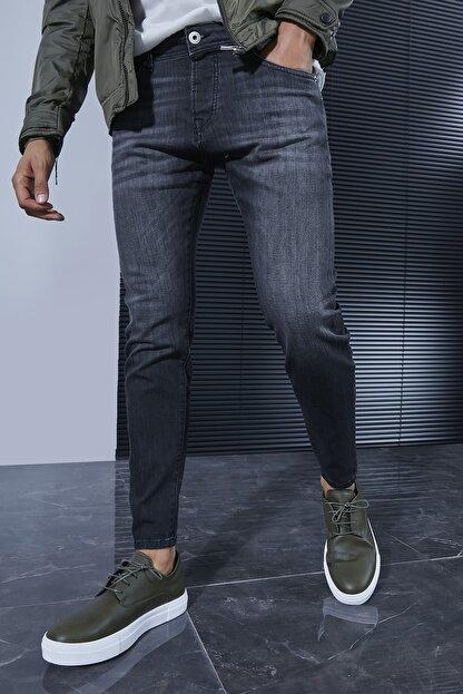 Sateen Men Erkek Koyu Antrasit Denim Pantolon