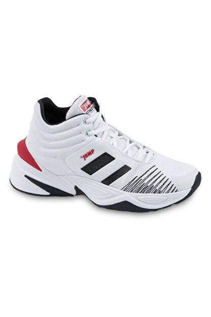 Jump Erkek Beyaz Siyah Bilekli Basketbol Ayakkabısı