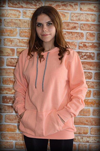 YGMR Fashion Kadın Pembe Sweatshirt Gknorange321