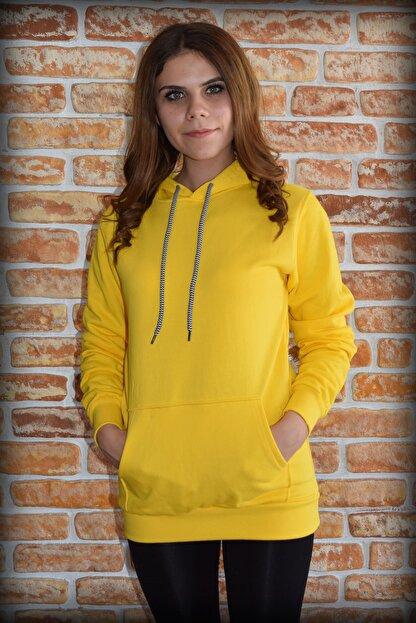 YGMR Fashion Kadın Sarı Sweatshirt Gknyellow321