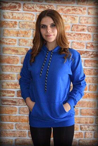 YGMR Fashion Kadın Saks Mavi Sweatshirt
