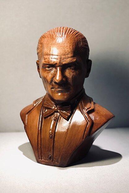 Ahşap Mustafa Kemal Atatürk Büst Biblo