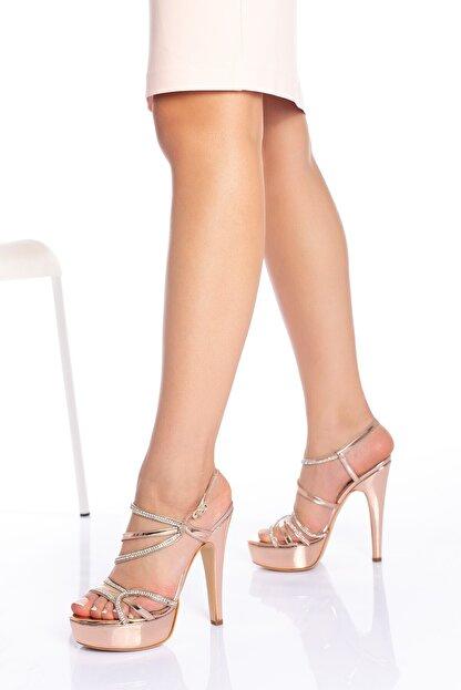 Çnr&Dvs Kadın Rose Ayna S Taş Abiye Ayakkabı 930715cnr