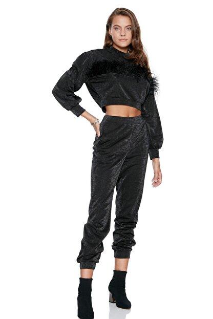 Keikei Kadın Siyah Düz Uzun Pantolon