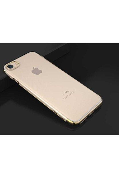 Zore Apple Iphone Se 2020 - Kılıf Arkası Şeffaf Kenarları Renkli Silikon + Ekran Koruyucu Hediye