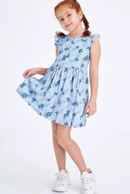 Defacto Baskılı Fırfır Detaylı Örme Elbise