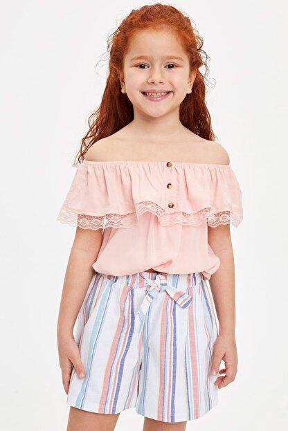 Defacto Kız Çocuk Omuzu Açık Bluz