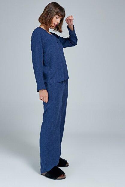 Appleline Düğmeli Pijama Takımı