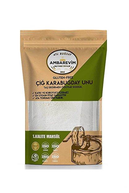 Ambarevim Çiğ Karabuğday Unu Analizli 1kg Glutensiz Taş Değirmen 1.kalite