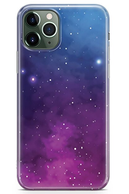 Zipax Samsung Galaxy A91 Kılıf Galaksi Desenli Baskılı Silikon Mel-109517