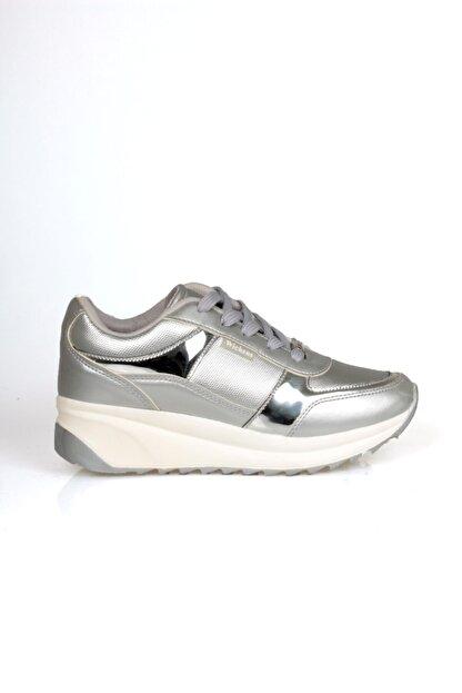 Wickers Kadın Gümüş Bağcıklı Spor Ayakkabı