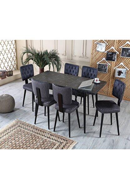 Ervo Yemek Masa Takımı 6 Sandalyeli