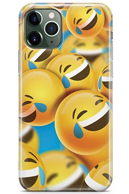 Zipax Samsung Galaxy M11 Kılıf Gülen Yüzler Desenli Baskılı Silikon Mel-109522