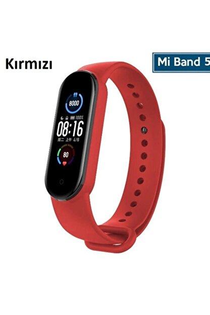 Xiaomi Mi Band 5 Akıllı Bileklik Için Silikon Kayış Kordon (saat Değildir) - Kırmızı