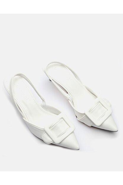Jorbinol Kadın Beyaz İnce Topuk Ayakakbı