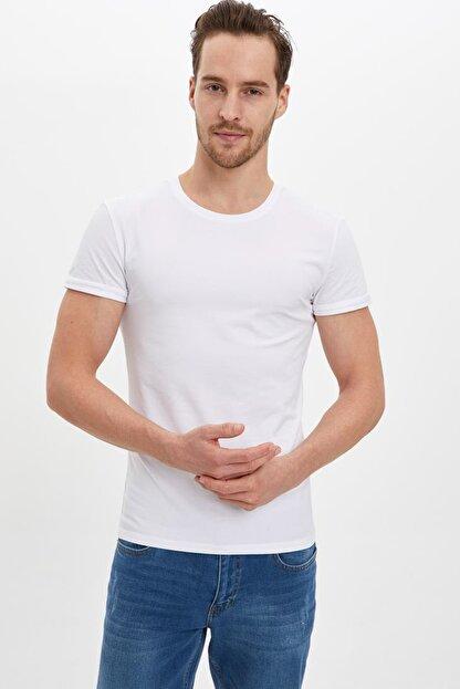 Defacto Erkek Beyaz Basic Slim Fit Body M4820AZ.20SP.WT34