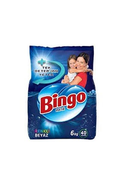 Bingo Renkli & Beyaz Toz Çamaşır Deterjanı 6 Kg