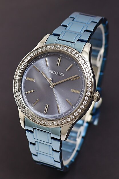 Ferrucci Kadın Mavi Taşlı Model Kol Saati