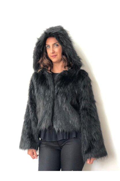 Hsn Kadın Siyah Ceket Kürk