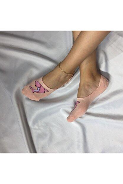 Adel Kadın Yavruağzı Bambu Dikişsiz Silikonlu Babet Çorap