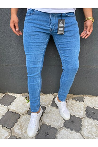 ENERJİN Erkek Mavi Kot Pantolon