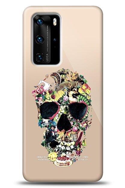Mobilcadde Huawei P40 Pro Pretty Skull Kılıf