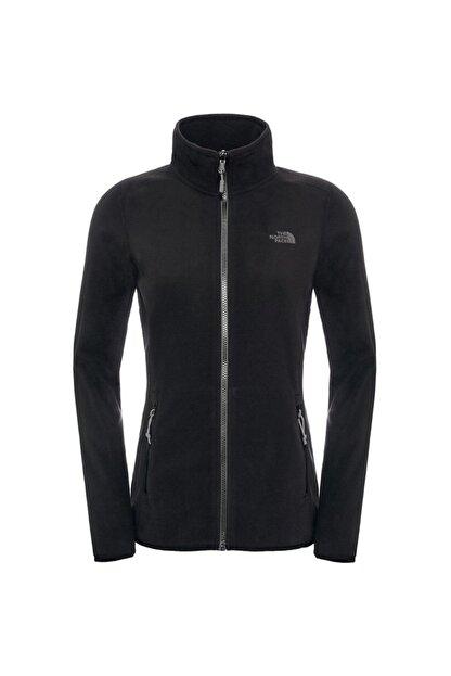 The North Face Kadın Siyah W 100 Glacıer Full Zıp Polar Ceket