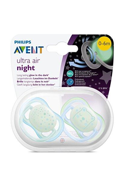 Philips Avent Ultra Air Night 2'li Silikon Karanlıkta Parlayan Emzik 0-6 Ay