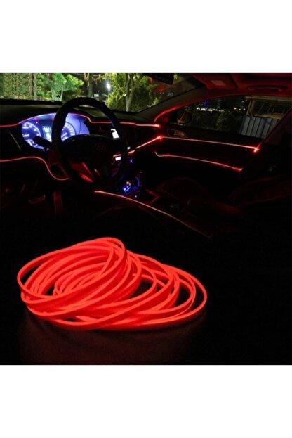 BALP Kırmızı Renk Fitilli Ip Neon Led Torpido Şeridi 2 Metre Dekoratif Led