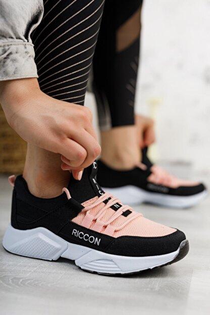 Riccon Unisex Siyah Pudra Sneaker 0012072