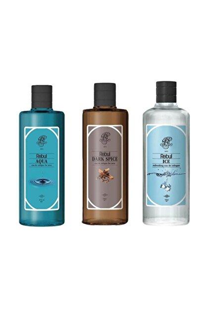 Rebul Dark Spice, Aqua Ve Ice 270ml X 3 Adet
