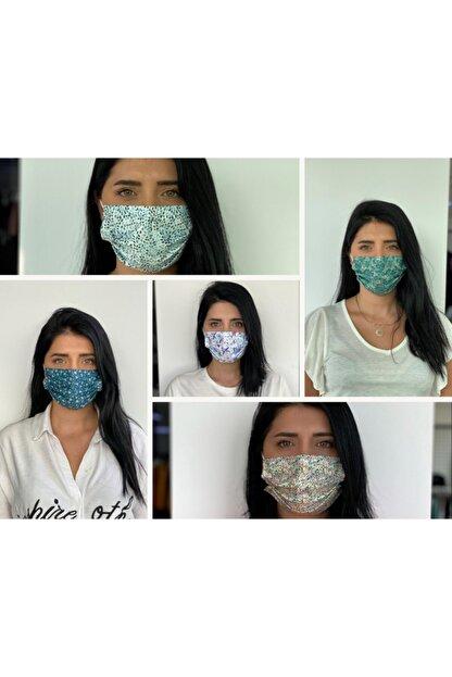 Bosmax 50 Adet Desenli Baskılı Maske, 3katlı, Burun Telli, Meltblown Ara Katmanlı Medikal Maske