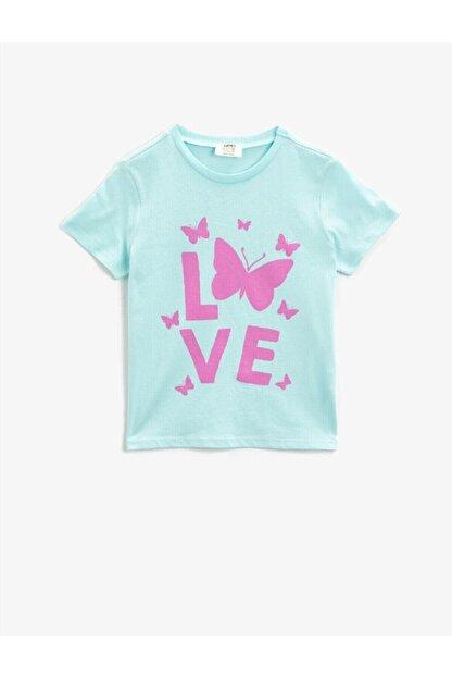 Koton Kız Çocuk Pamuklu Kisa Kollu Bisiklet Yaka T-Shirt