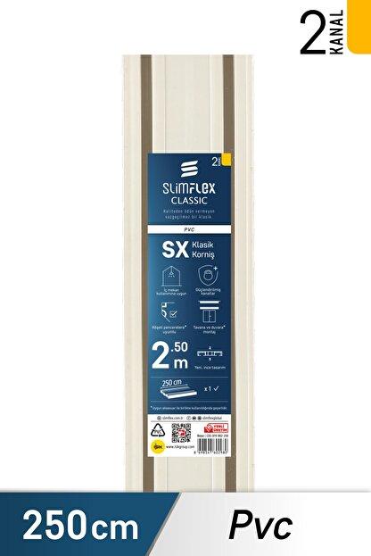 SlimFlex Konfor 2 Kanallı Korniş, 2.5m