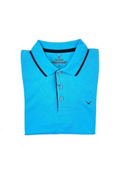 Cazador Erkek Aqua Mavi Polo Yaka T-shirt