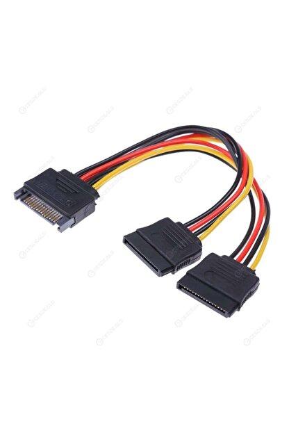 OEM Sata Power Çoklayıcı Y Kablo Ekran Kartı Güç Kablosu Bakır Kablo - Sata To 2 X Sata Power Çoklayıcı