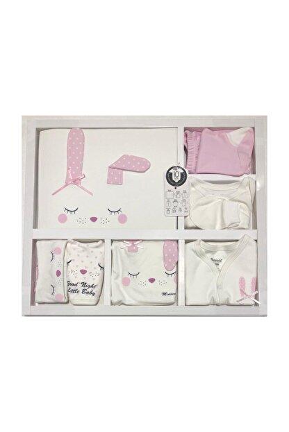 Miniworld Kız Bebek Uyuyan Tavşan Somon 10'lu Hastane Çıkışı %100 Organik
