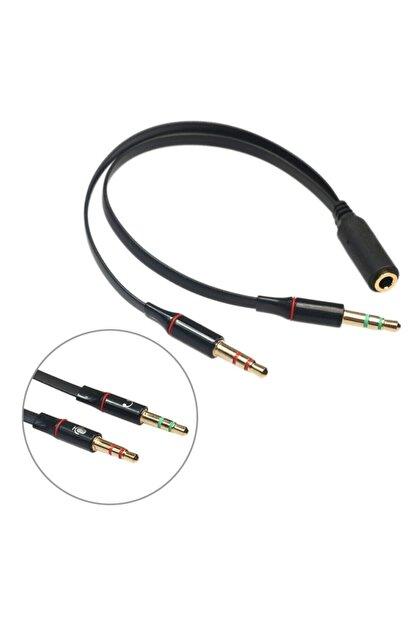Brs Kulaklık Mikrofon Çevirici Ayırıcı Switch Splitter 3.5mm