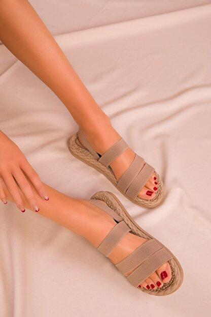 CONFORCİTY Kadın Bej Sandalet