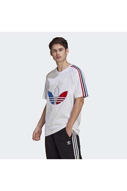 adidas Erkek Beyaz Adicolor Tricolor Tişört