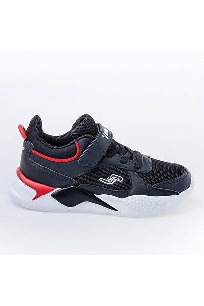 Jump Unisex Çocuk Siyah Günlük Cırtlı Spor Ayakkabı