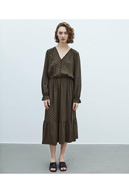 MISS IPEKYOL Puantiye Desen Elbise