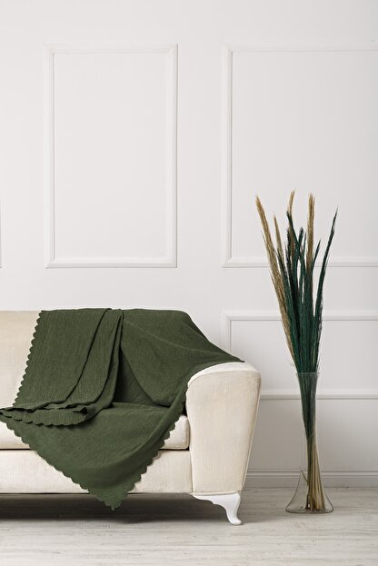 VELERDE HOME Yeşil Nefti Çift Taraflı Çekyat Koltuk Örtüsü