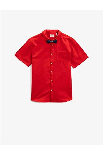 Koton Erkek Çocuk Kırmızı Kısa Kollu Gömlek