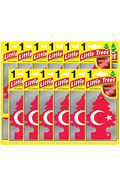 Car Freshner Little Trees Türk Bayraklı Vanilya Oto Kokusu 12 Adet
