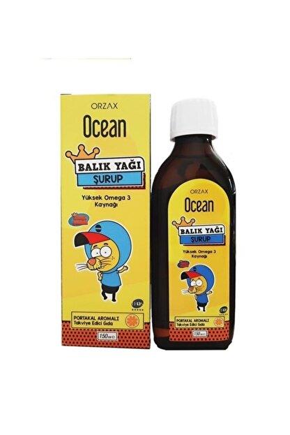 Orzax Ocean Omega 3 Portakallı Balık Yağı Şurubu Kral Şakir 150 Ml