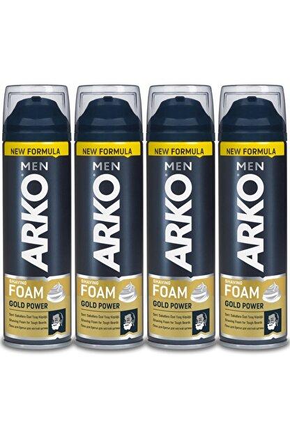 Arko Men Men Tıraş Köpüğü Gold Power 4x200ml