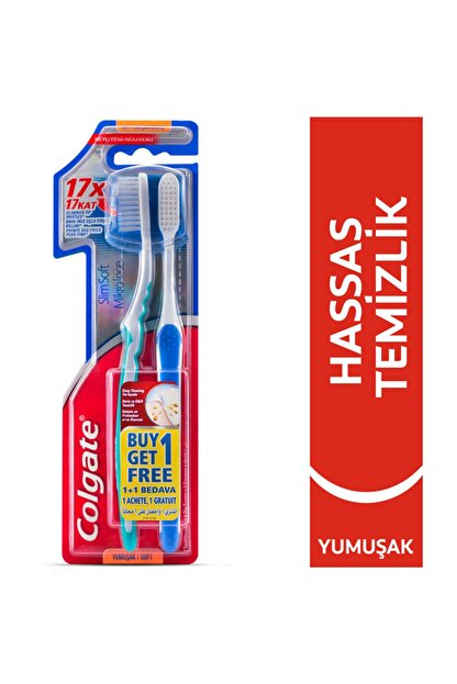 Colgate Mikro İnce Hassas Temizlik Yumuşak Diş Fırçası 1+1