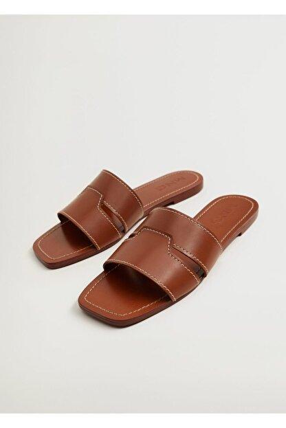 Mango Kadın Deri Bantlı Sandalet