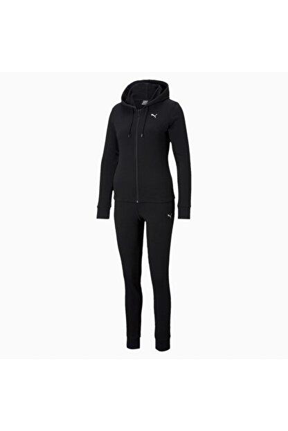 Puma Kadın Kapüşonlu Sweatshirt Takım Classic Hd - Siyah